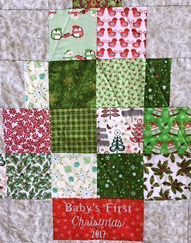 1st Baby Blanket (Baby's First Christmas Nursery Quilt Newborn Baby Blanket)