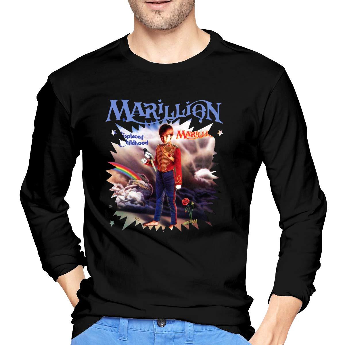 S Marillion Misplaced Childhood Round Neck Differentiate Tee Black Shirts