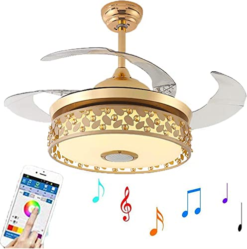 Kankanray 42'' Bluetooth Invisible Ceiling Fan