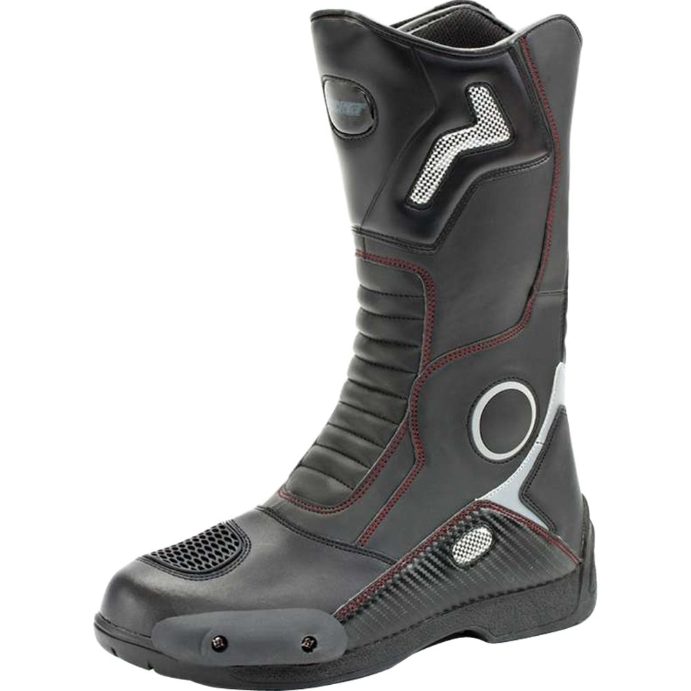 Joe Rocket Ballistic Touring Mens Riding Shoes Sports Bike Racing Motorcycle Boots - Black / Size 11