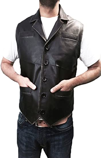 8c8f32acddcd1 Image Unavailable. Image not available for. Color  Hell on Wheels Cullen  Bohannan Brown Leather vest