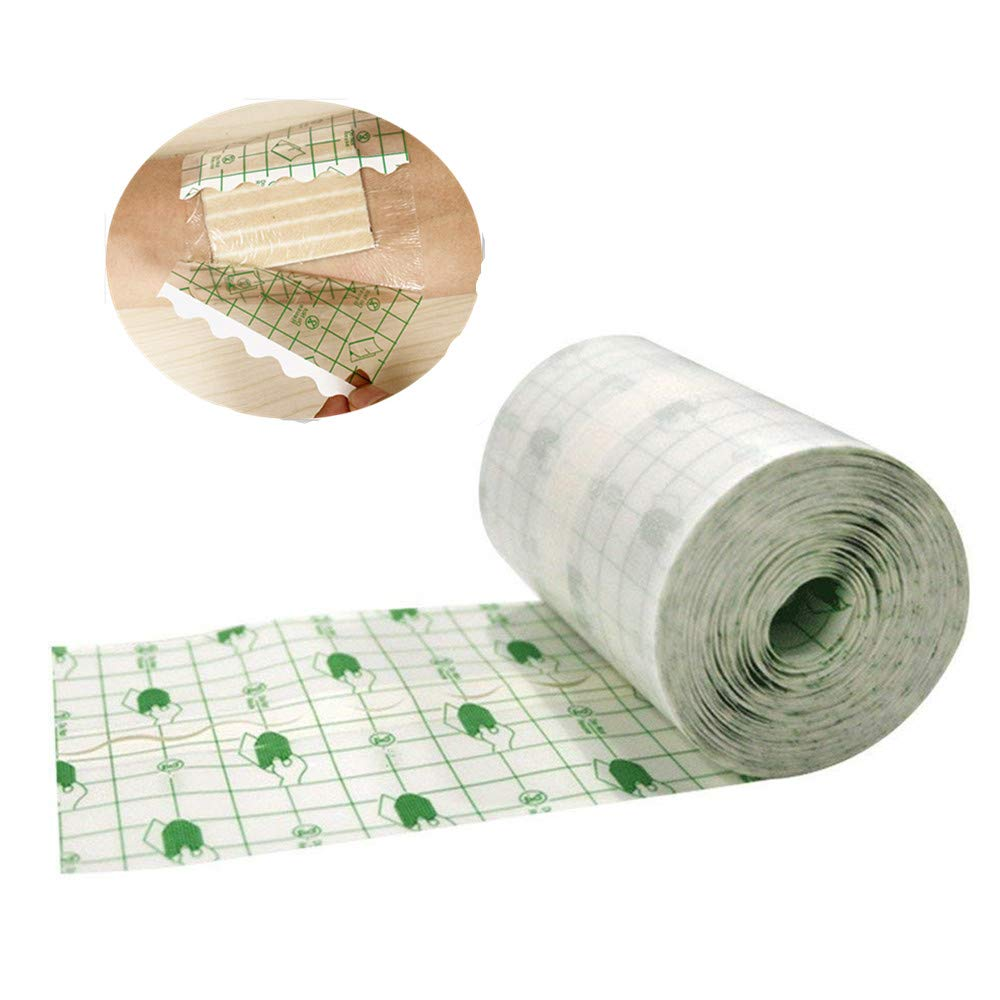 Zorvo Flexifix Opsite Transparent Adhesive Film Roll Waterproof Adhesive Wound Dressing Fixation Tape Bandage 4'' X10.9 Yards