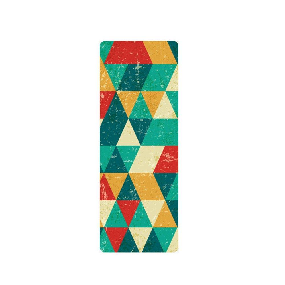BINGLIU Yoga-Matten, 183cm  68cm  5mm, Naturkautschuk, Absorbieren Schweiß, Umweltfreundlich, Komfortabel, Wildleder Stoff, Rutschfeste Verlieren Übung Yoga Mat,D