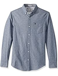 Men's Long Sleeve Oxford with Floral Print