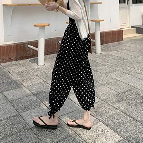 Pantalones de harén para mujer con diseño de lunares, cintura ...