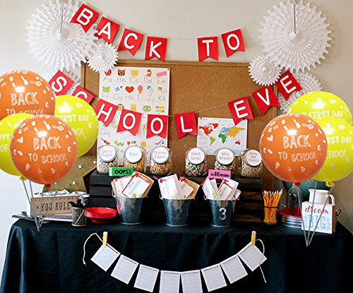 Amazoncom Back To School Decoration Balloon Happy First Day Of