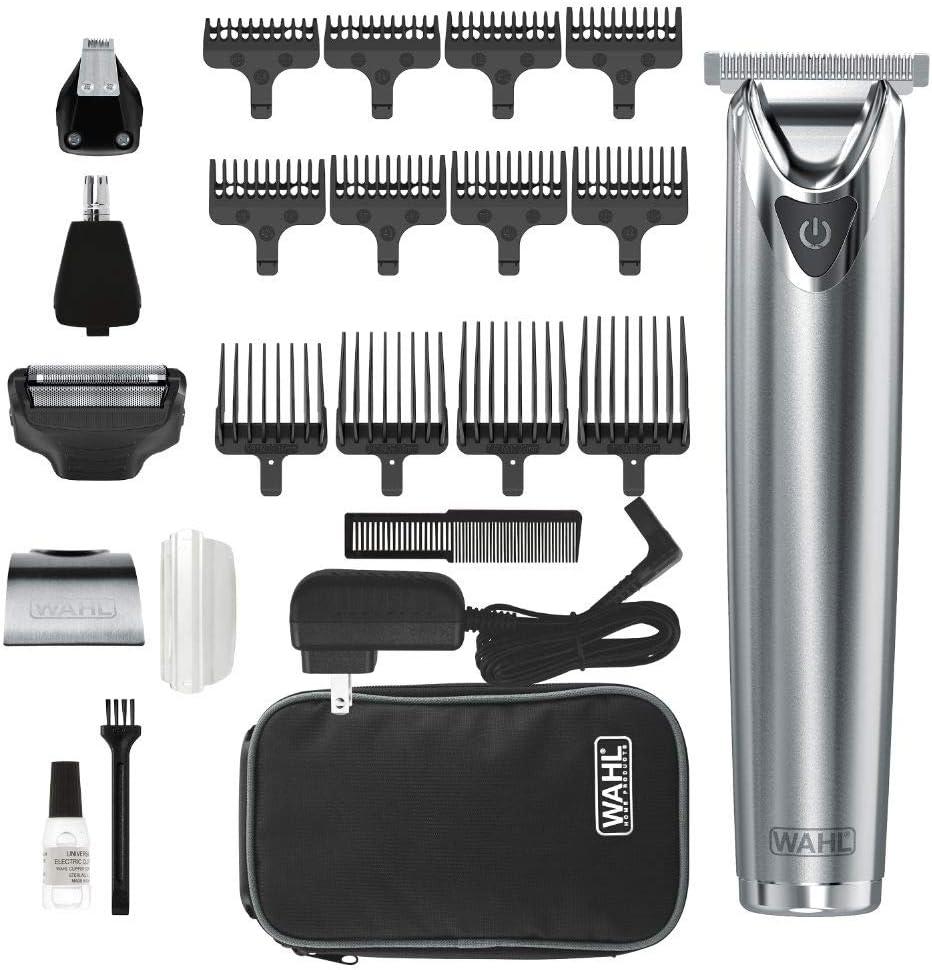 WAHL No.9864SS Wahl Clipper - Kit de recortadora de barba (acero ...