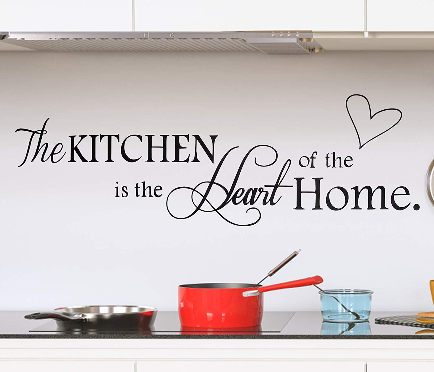 Unves Wall Stickers, Quote Wall Stickers for Kitchen, Wall Decals for Home, Kitchen Art Decorations Vinyl Home Décor ('The Kitchen')