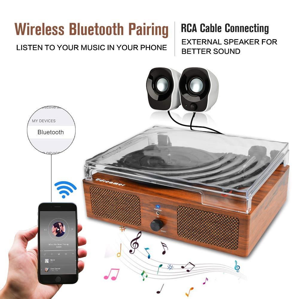 Reproductor de Discos de Vinilo, Tocadiscos con Bluetooth con ...
