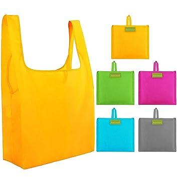 Bolsas de compras reutilizables plegables, 5 unidades ...