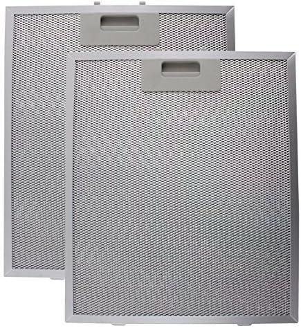 Spares2go Filtro Antigrasa Metálico para Turboair (Elica) Campana Extractora (Plata, 320 x 260mm) (Pack de 2): Amazon.es: Grandes electrodomésticos