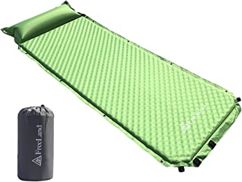 Freeland Self Inflating Camping Sleeping Pad with Attached Pillow