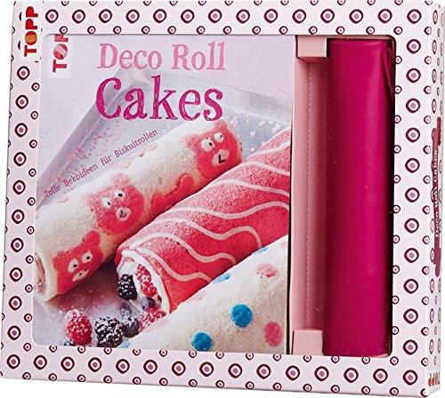 Kreativ-Set Deco Roll Cakes: Buch mit Grundanleitungen und Rezepten und Silikonmatte in Pink (Buch plus Material)