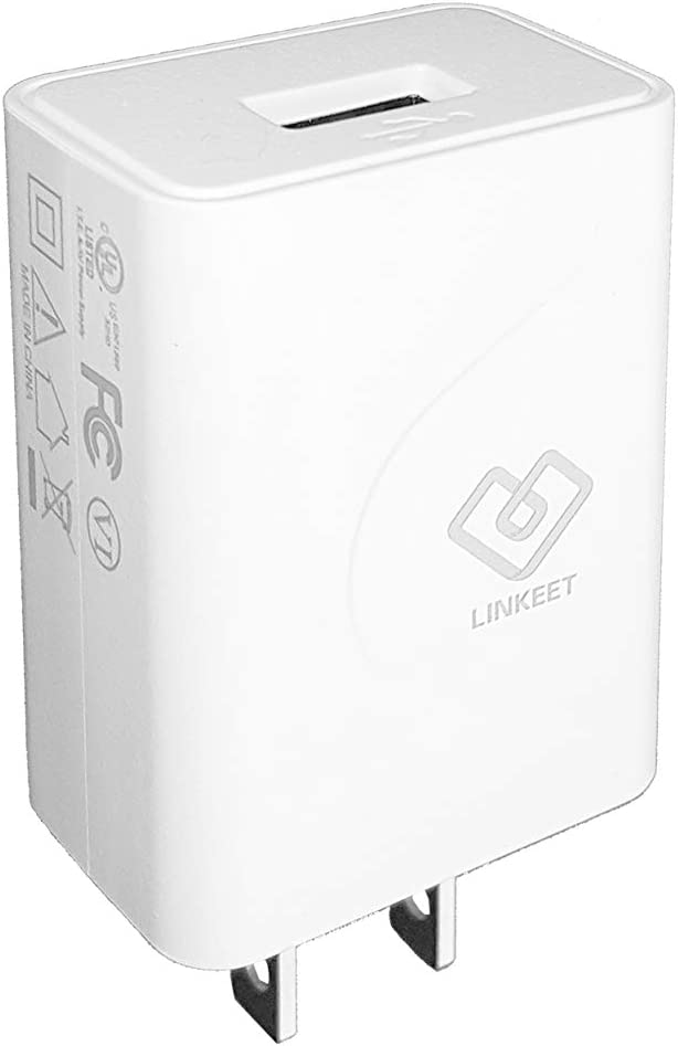 12W USB Power Adapter Wall Charger 5V 2.4A for iPhone, X, Xr, 8, 7, 6s, 6 Plus, iPad Pro, iPad Air, and Samsung S5, S6 Provides Fast Quick Charging, UL Listed