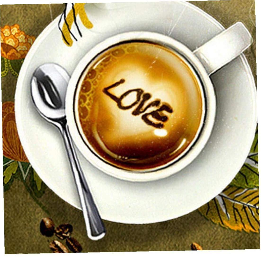 8pcs Natale Caff/è Modelli Multi Uso Barista Coffee Stencil trasparente Coffee Templates Arte per Latte Cappuccino