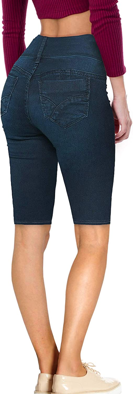 Hybrid /& Company Womens Butt Lift V2 Super Comfy Stretch Denim Skinny Jeans Bermuda Capri