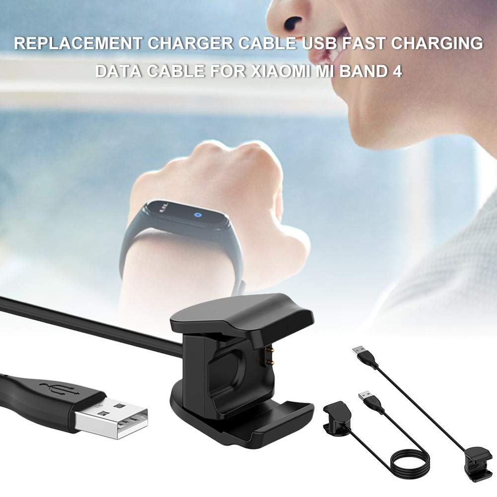 Morningtime Cargador USB para Xiaomi Mi Band 4 Adaptador de Cargador de Cable de Repuesto Cable USB de Carga r/ápida para la l/ínea de Cargadores Xiaomi MiBand 4