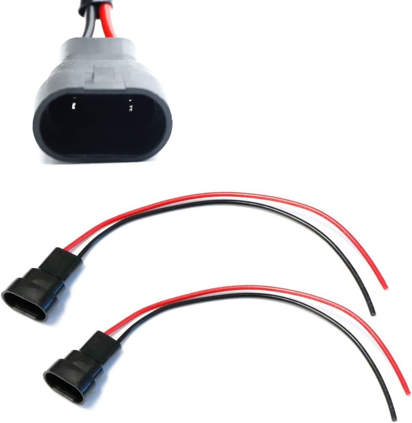 iJDMTOY (2) 9005/9006/H10 Male Adapter Wiring Harness Sockets Wire on protective wire guards for lights, harley neon lights, flash lights, electrical wiring, safety lights, concrete lights, wood lights, wireless remote control for lights, control lights, neon lights, homemade grow lights, silver pendant lights, bulbs lights, product neon lights, ceiling fan wiring, night lights, city of lights, cabinets lights, chicken wire christmas lights, recessed lights, switch lights, mason jar lights, chicken wire balls with lights, holiday lights, switch wiring, diy solar lights, oversized pendant lights, building lights, hot tub wiring, roof lights,
