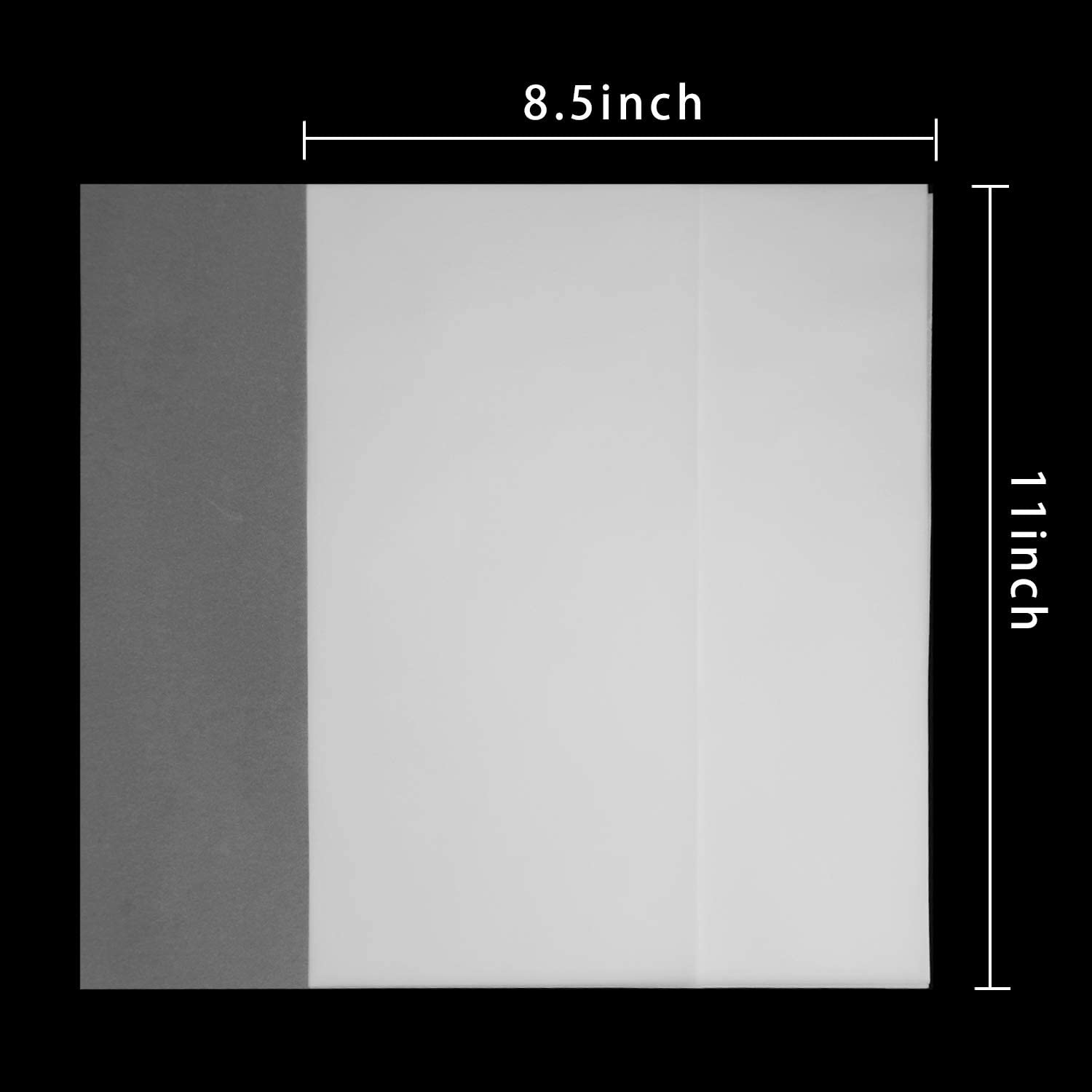 Translucent Vellum Paper 8.5 x 11 Inches 50 Sheets Printable Transparent Vellum Paper for Printing Sketching Tracing Drawing Animation