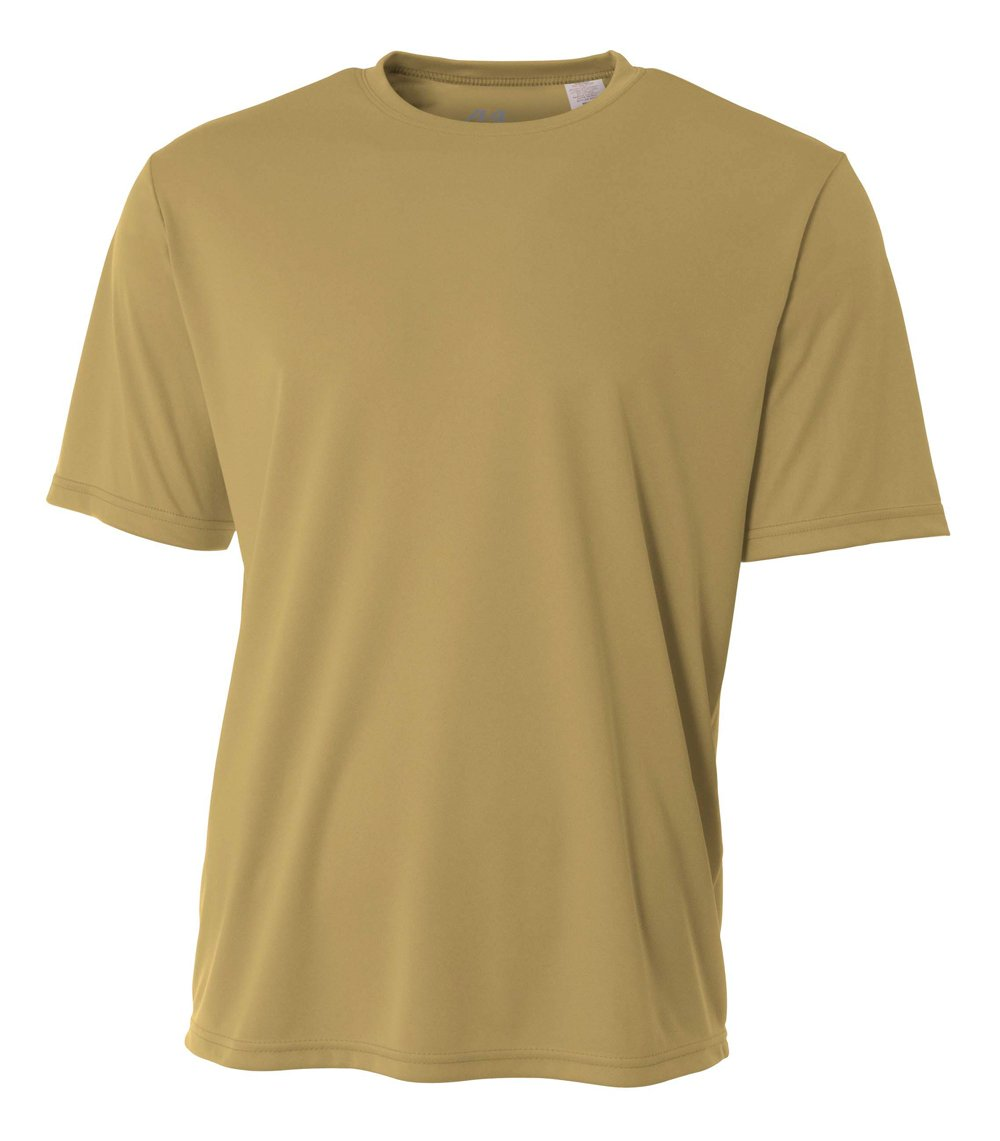 A4 Men's Cooling Performance Crew Short Sleeve, Vegas Gold, XX-Large by A4