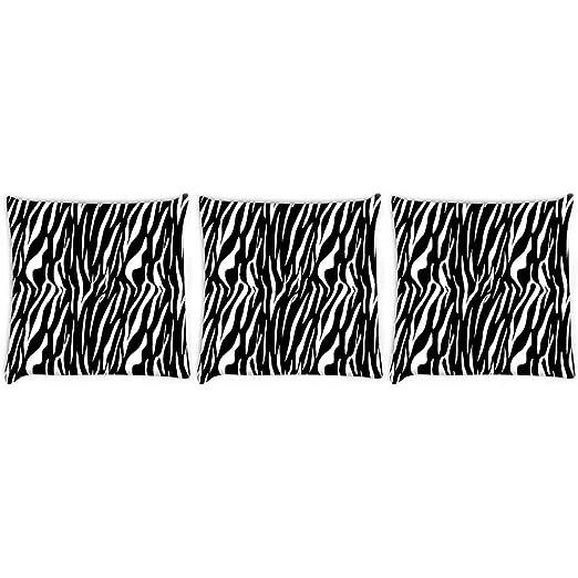 Red Zebra Funda de cojín con Estampado de Cebra roja de 8 ...