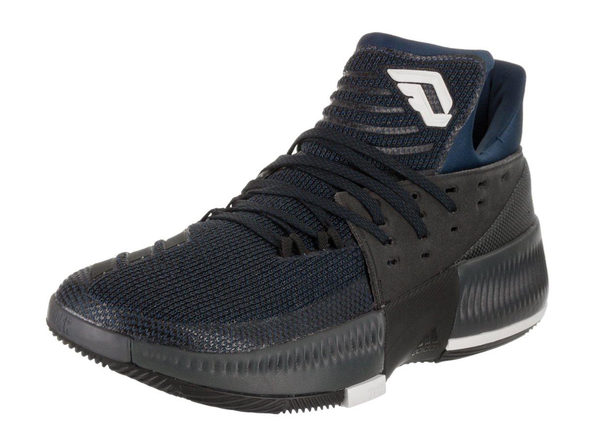 adidas Men's D Lillard 3 Basketball Shoe B072LZWSWN 13 D(M) US|Mystic Blue/Black/White