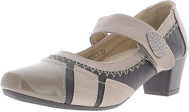 Chaussures femme noires et grises confortables à petits