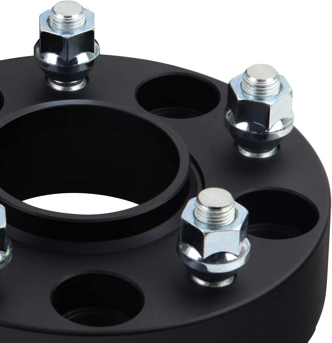 Supreme Suspensions 2pc 1.25 Hub Centric Wheel Spacers for 2007-2018 Jeep Wrangler JK 2WD 4WD 5x5 5x127mm Black 71.5mm Center Bore with 1//2x20 Studs