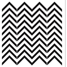 Chevrons Stencil by StudioR12 | Simple Skinny RepeatingPattern Art - Large 18 x 18-inch Reusable Mylar Template | Painting, Chalk, Mixed Media | Use for Wall Art, DIY Home Decor - STCL704_5