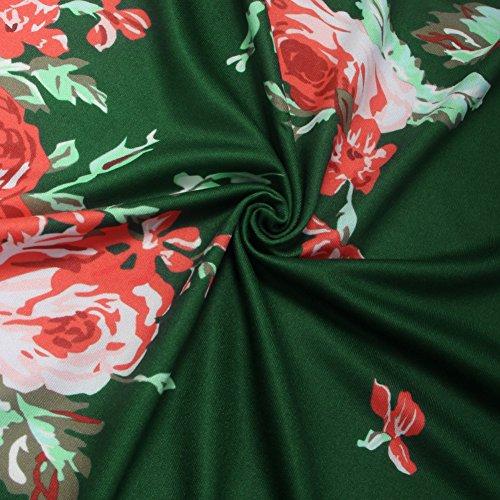 Maniche Giacche Lunghe Vintage Cardigan Primavera Donna Elegante Comode Stampato Floreale Verde Casual Moda Giacca Top Cappotto Sciolto txqtT0Rn