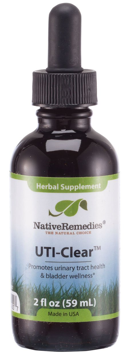Native Remedies, UTI Clear Urinary Tract and Bladder Health Herbal Supplement, 2fl oz, 59ML