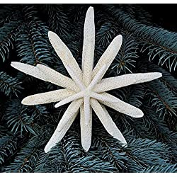 Nautical Starfish Christmas Tree Topper - Beach Coastal Decor Nautical Star Fish Tree Topper - 7""