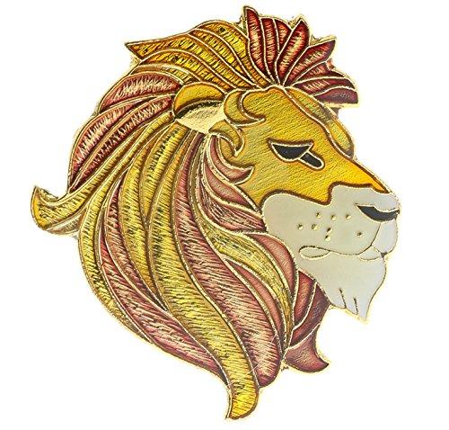 Head Pin Lion (Lion Head Golden Mane Hat or Lapel Pin AK358D117)