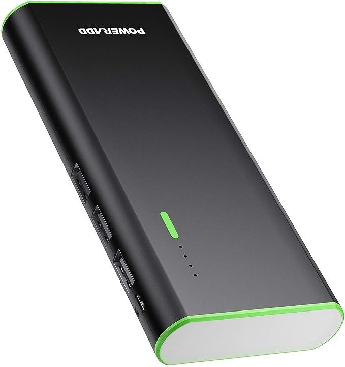 POWERADD Batería Externa 10000mAh (3 USB, 5V 2A, Más 2.5A, con Linterna) Carga Rápida Power Bank para iPhone iPad Samsung Xiaomi Móviles Inteligentes y Tableta: Amazon.es: Electrónica