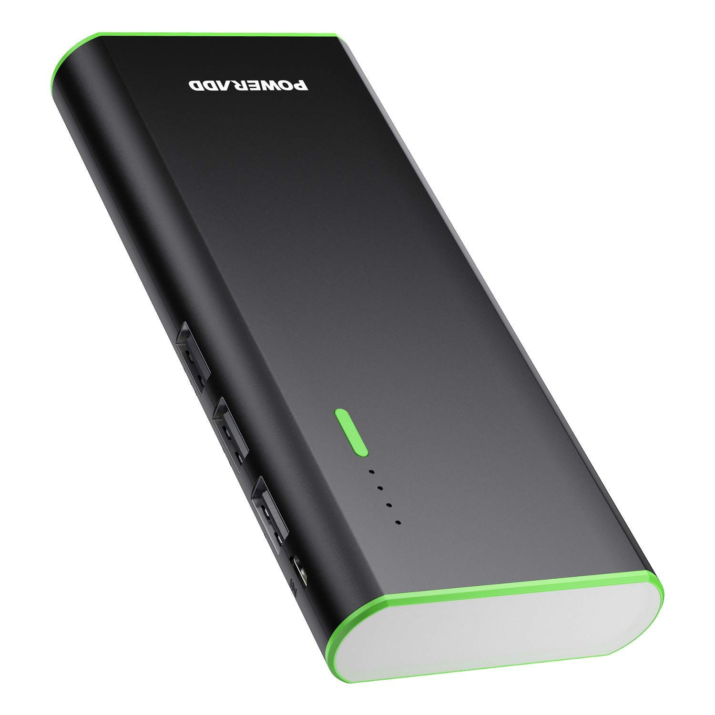 POWERADD Batería Externa Power Bank 10000mAh (3 USB, 5V 2A, Más 2.5A, con Linterna) Carga Rápida para iPhone iPad Samsung Xiaomi Móviles Inteligentes ...
