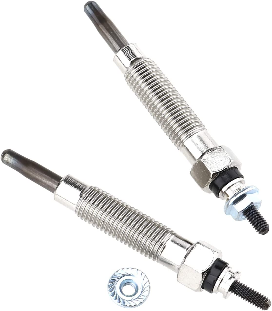 Diesel Glow Plug Aluminum Alloy Dual Core Heater Glow Plugs Compatible with Mitsubishi Challenger L200 L300 2.5 D