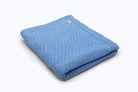 Minutus Manta Fina de Punto para Verano Algodón 80 Cm (Delta) (azulón)