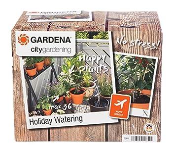 Gardena 1265-20 Set de riego en Vacaciones City Gardening, para un máximo de 36 Plantas, plástico, Negro, Gris: Amazon.es: Jardín