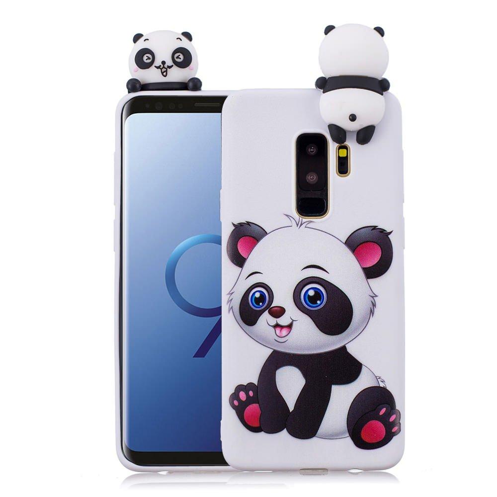pretty nice 05a4b f00b7 3D Cartoon Panda Case for Samsung Galaxy S9 Plus Case LAPOPNUT Soft Back  Candy Colour Lovely Girly Bear Design Slim Flexible Protective Case Cover  ...