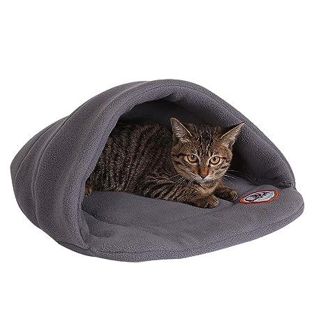 Camas Para Perros,World 9.99 Mall Cueva de mascotas Suave y cálida cama para gatos Casa para perros y gatos(XS/S/M/L) (gris, S)