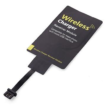 XCSOURCE® Ultrafino Micro USB Qi Receptor del Cargador Bobina Inalámbrico Universal para HTC BC341