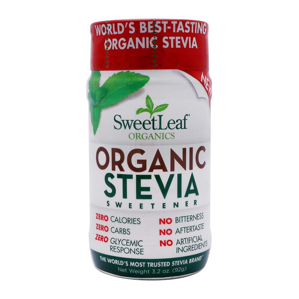 Sweet Leaf Stevia Organic Sweetener Powder, 3.2 Ounce