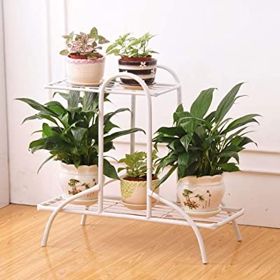 LRW Iron Art Flower Shelf Living Room Flower Pot Rack Indoor and Outdoor Multi-Function Flower Rack: Garden & Outdoor