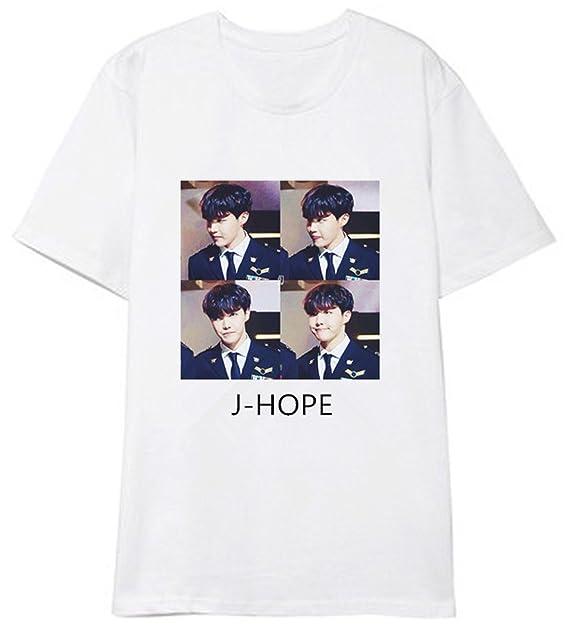 SERAPHY Unisex Camiseta de Verano KPOP Bangtan Boys BTS Foto Tshirt de algodón for Army Suga