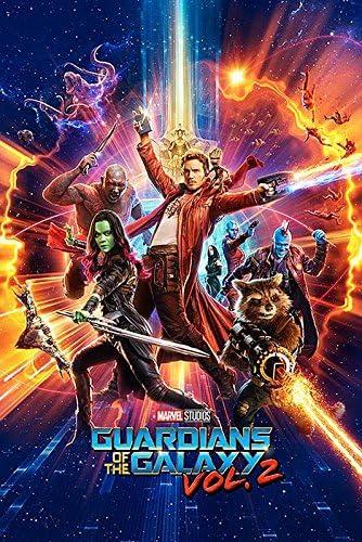 2 One Sheet Guardians Of The Galaxy Poster Vol 61cm x 91,5cm + 2 tringles Transparentes avec Suspension