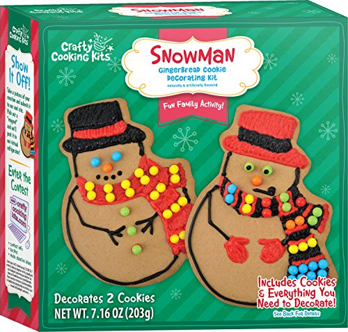 Gingerbread Cookie Decorations (Crafty Cooking Kits Snowman Gingerbread Cookie Decorating, 7.16 Ounce)
