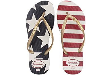 11114e96c9ac62 Havaianas Slim Stars and Stripes Sandal Women s Flip Flop White
