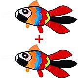 Hengda Kite Fish Kite for Girls Boys Let Fish Swim in Sky Kite with 30m Line