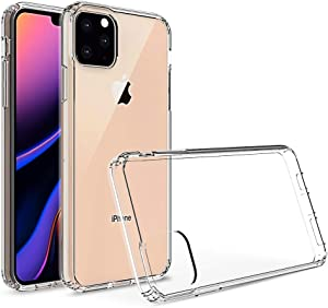 Kit Me Out World Clear Hybrid Series Case Designed for iPhone 11 Pro Max 6.5 Inch Case, Transparent Hard (PC) Back and Clear TPU Bumper Protection Shockproof Case Cover (Ultra Clear)