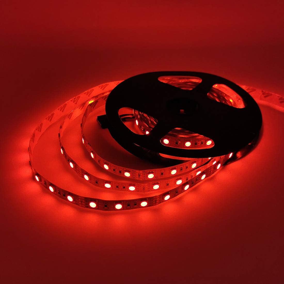 JOYLAND 12V Flexible RGB LED Strip Lights 300 Units 5050 LEDs Non-waterproof LED Tape Multi-colors LED Strips Light Pack of 16.4ft//5m